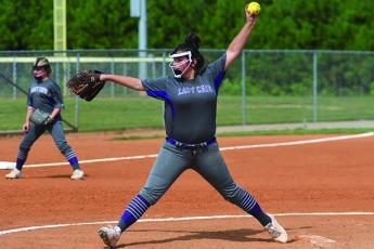 Clear Creek's Zoey Woody struck out five batters in the Lady Cats' 13-5 victory over Dawson County last Tuesday.