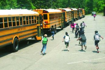 Gilmer County students have been transported to and from school this year using a revamped system that has been more efficient than methods used in previous years. (Photo by Michael Andrews/Mountain Life Editor)