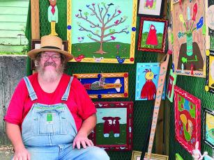 Charlie Dingler, of Commerce, will be among the folk artists selling and showing their creations at the third annual Dancing Goats Folkfest.