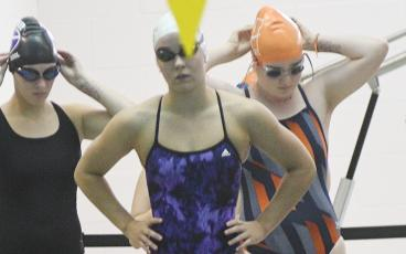 Lady Cat Payton Woodring will represent Gilmer High at the upcoming state swim meet.