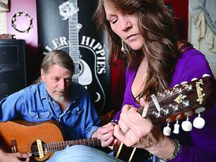 Tommy and Sylvia Davis are the acoustic duo, Trailer Hippies.