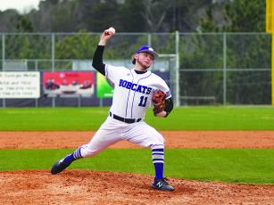 Bobcat Jess Buckner was the winning pitcher in game one of Monday's doubleheader against Lumpkin County.