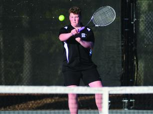 Gilmer senior Kaden Reece defeated his Pickens opponent 6-0, 6-1 last Tuesday.