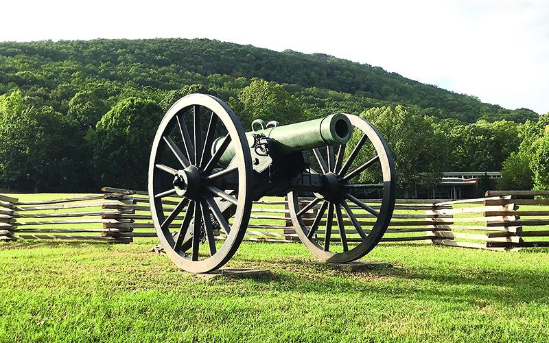 An example of the type of Civil War-era cannons, or field guns, that fired artillery shells during the 1864 Battle of Kennesaw Mountain.