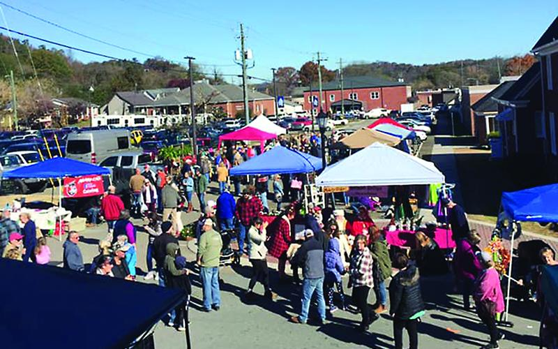 With safety and social distancing measures in place, the Ellijay Farmers Market will look a little different than above when it opens for the 2020 season Saturday, June 13.