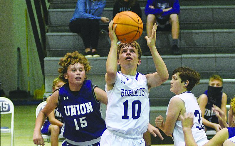 Clear Creek's Keegen Bryant scored seven points for the seventh-grade Bobcats versus Fannin last week and added 15 more points in the eighth-grade's victory.